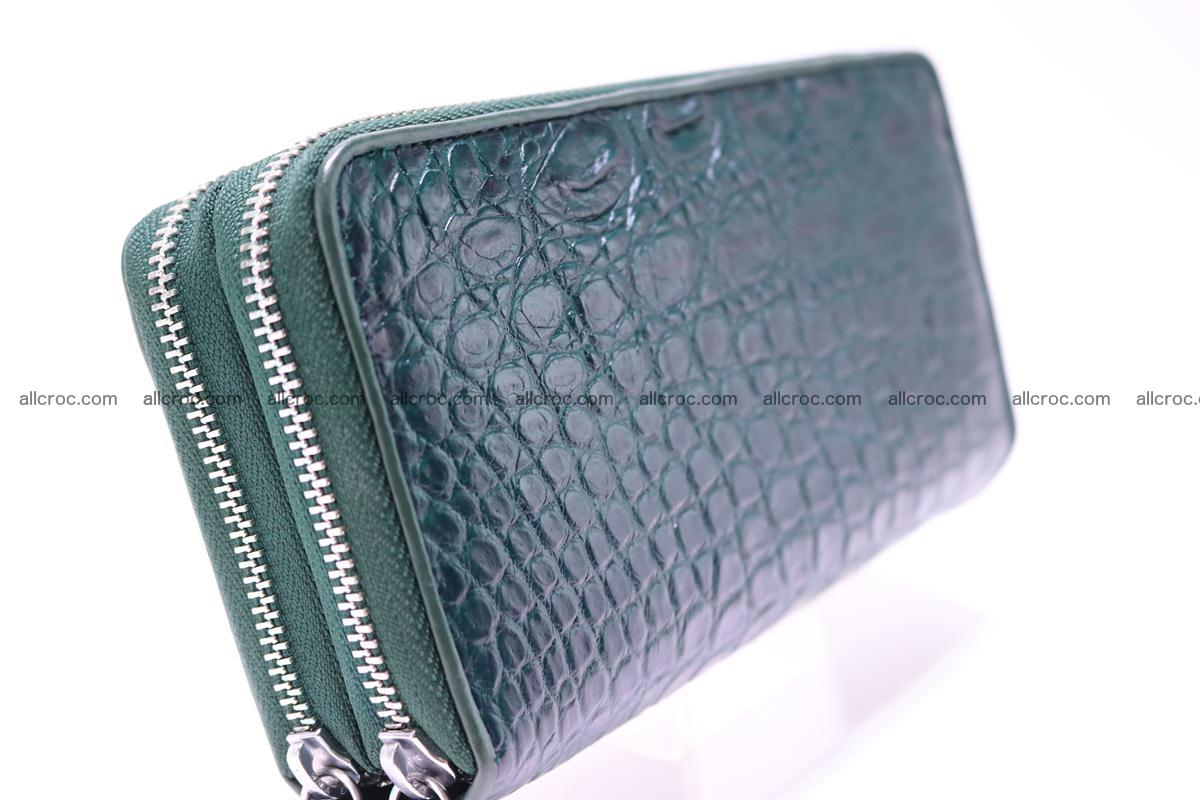 Crocodile wallet with 2 zips 310 Foto 6
