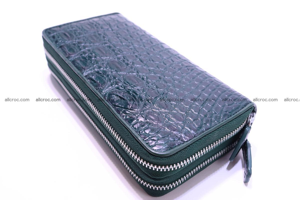 Crocodile wallet with 2 zips 310 Foto 7