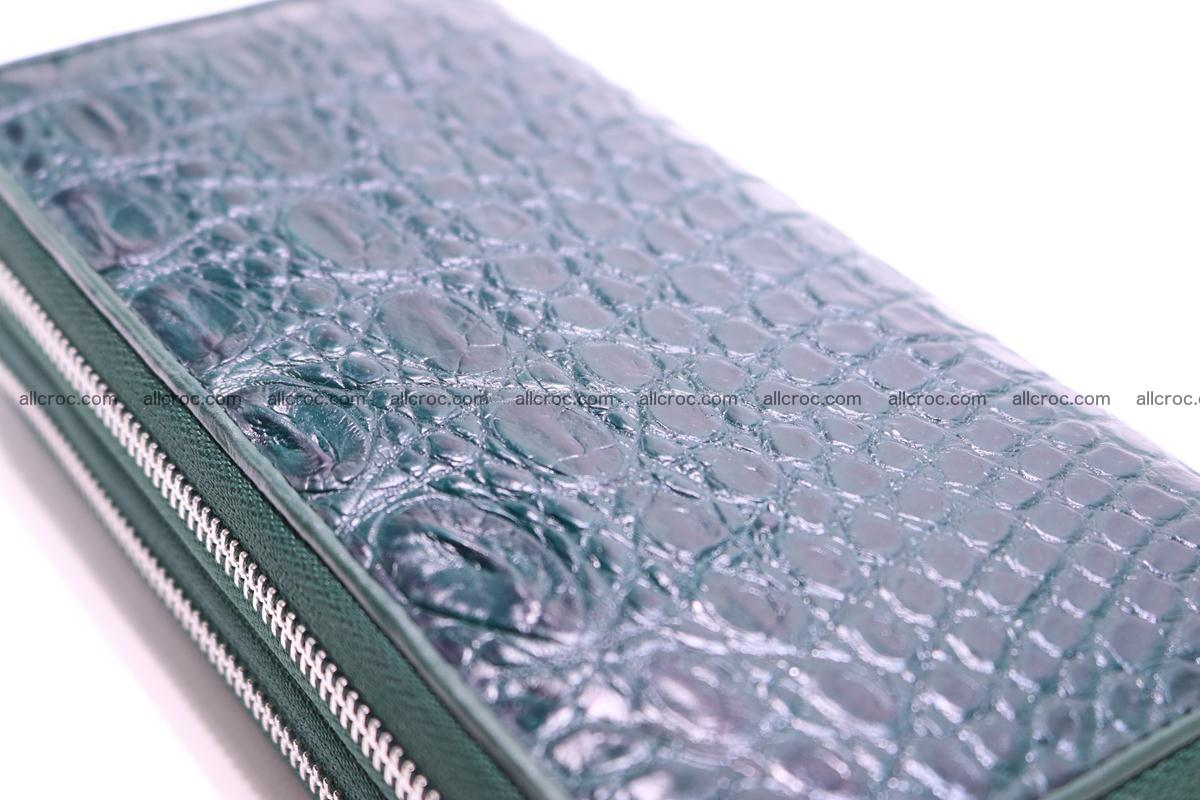Crocodile wallet with 2 zips 310 Foto 8