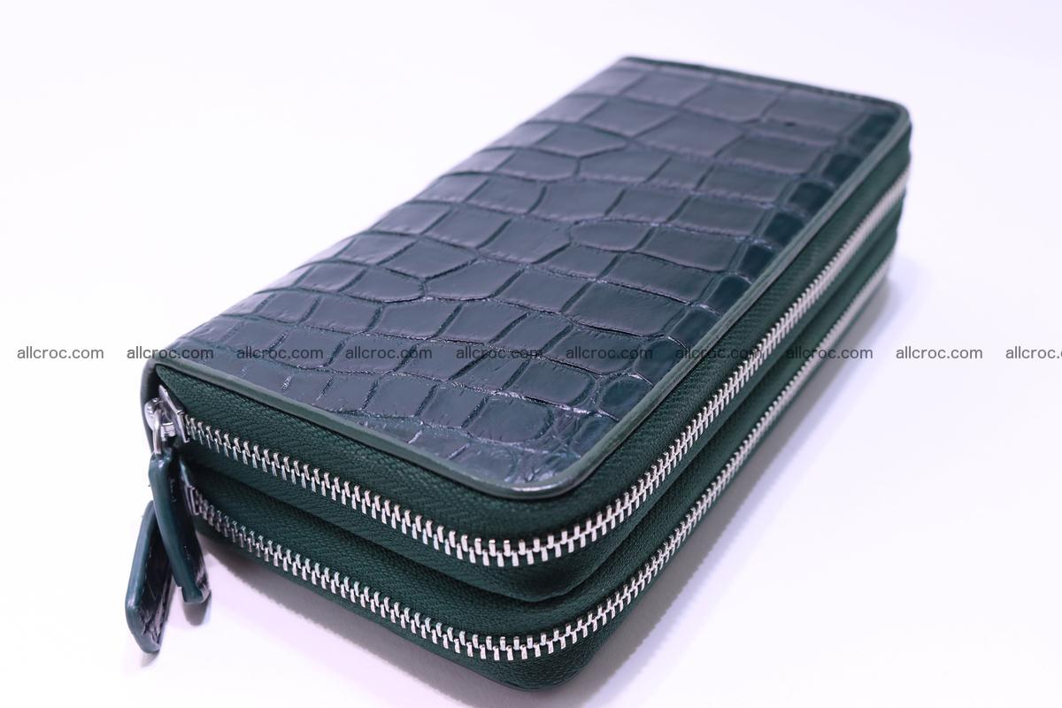 Crocodile wallet with 2 zips 310 Foto 9