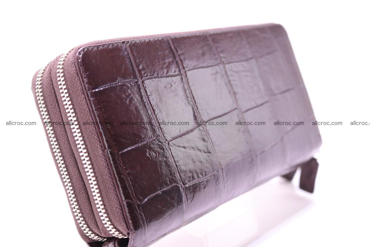 Crocodile wallet with 2 zips 311 Foto 3