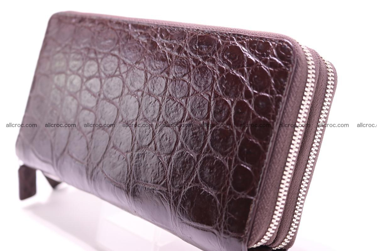 Crocodile wallet with 2 zips 311 Foto 9