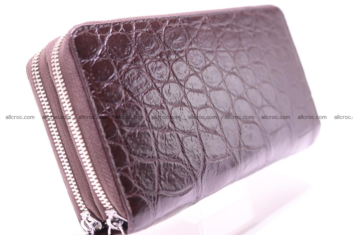 Crocodile wallet with 2 zips 311 Foto 4