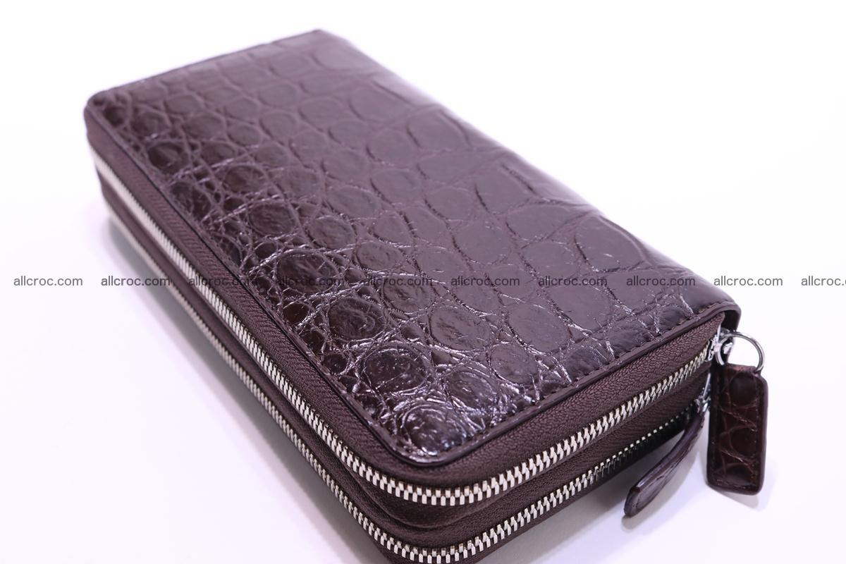 Crocodile wallet with 2 zips 311 Foto 5