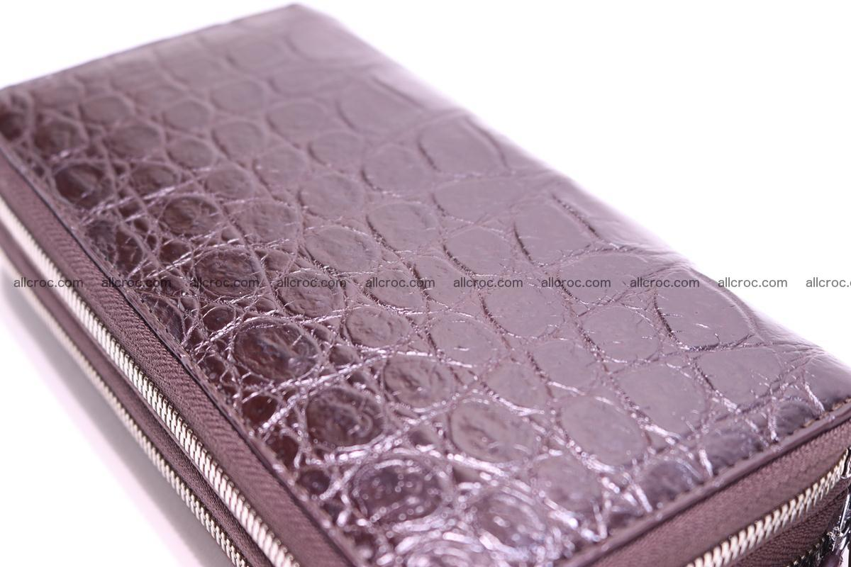 Crocodile wallet with 2 zips 311 Foto 6