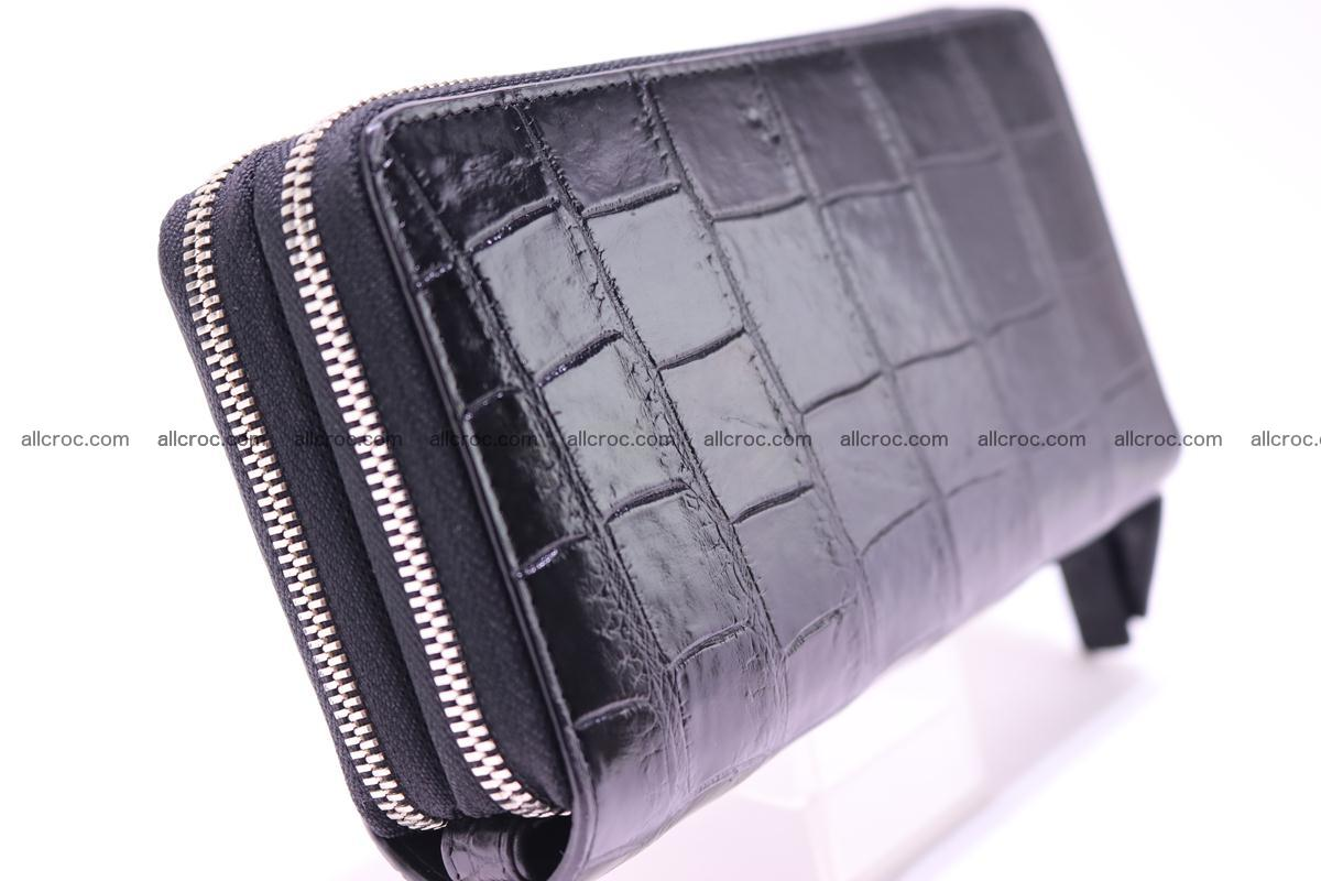 Crocodile wallet with 2 zips 312 Foto 4