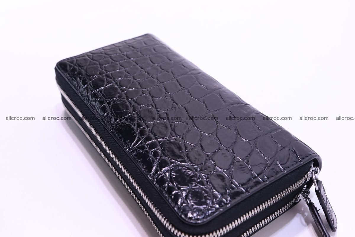 Crocodile wallet with 2 zips 312 Foto 7