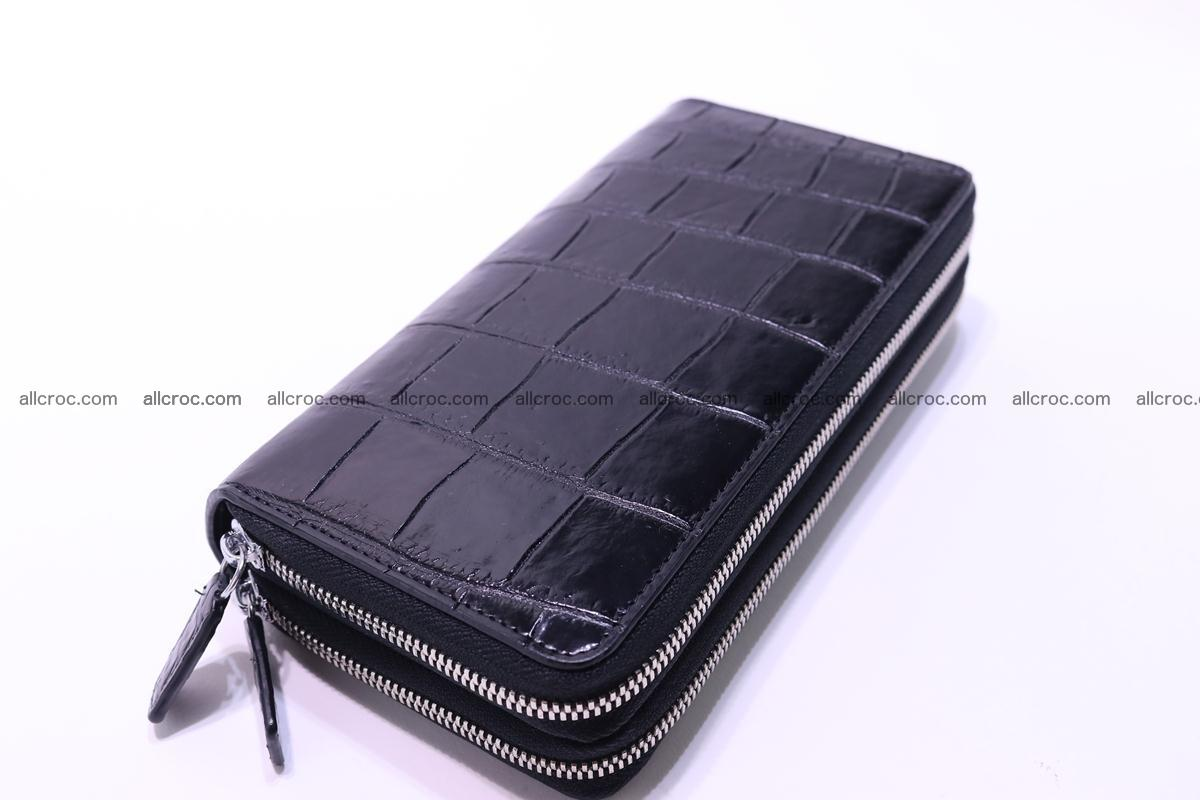 Crocodile wallet with 2 zips 312 Foto 8