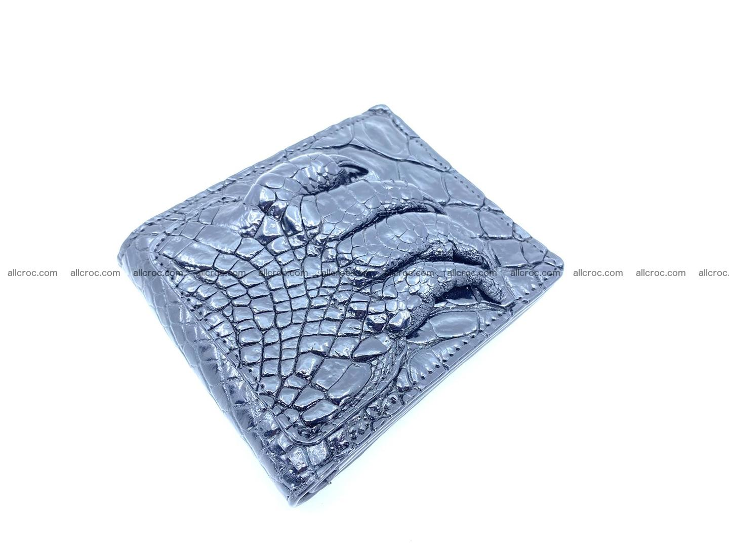 Wallet from Siamese crocodile skin with paw and claws 506 Foto 1