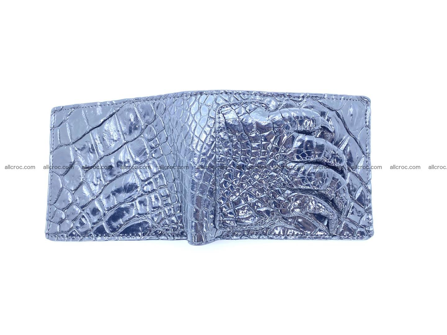 Wallet from Siamese crocodile skin with paw and claws 506 Foto 3