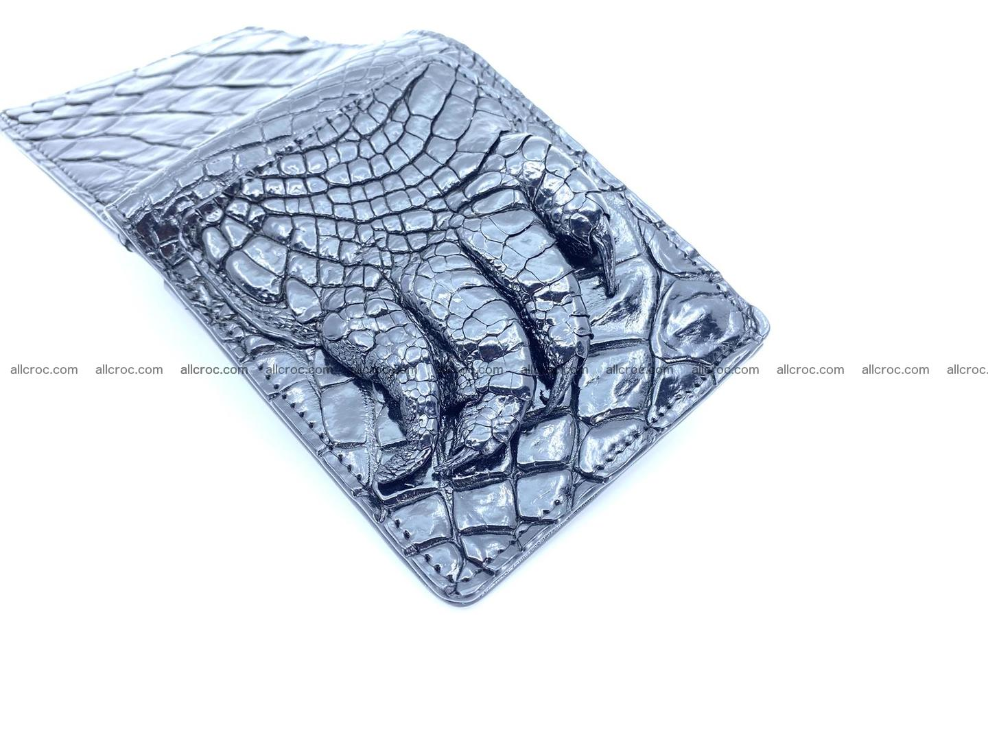 Wallet from Siamese crocodile skin with paw and claws 506 Foto 4