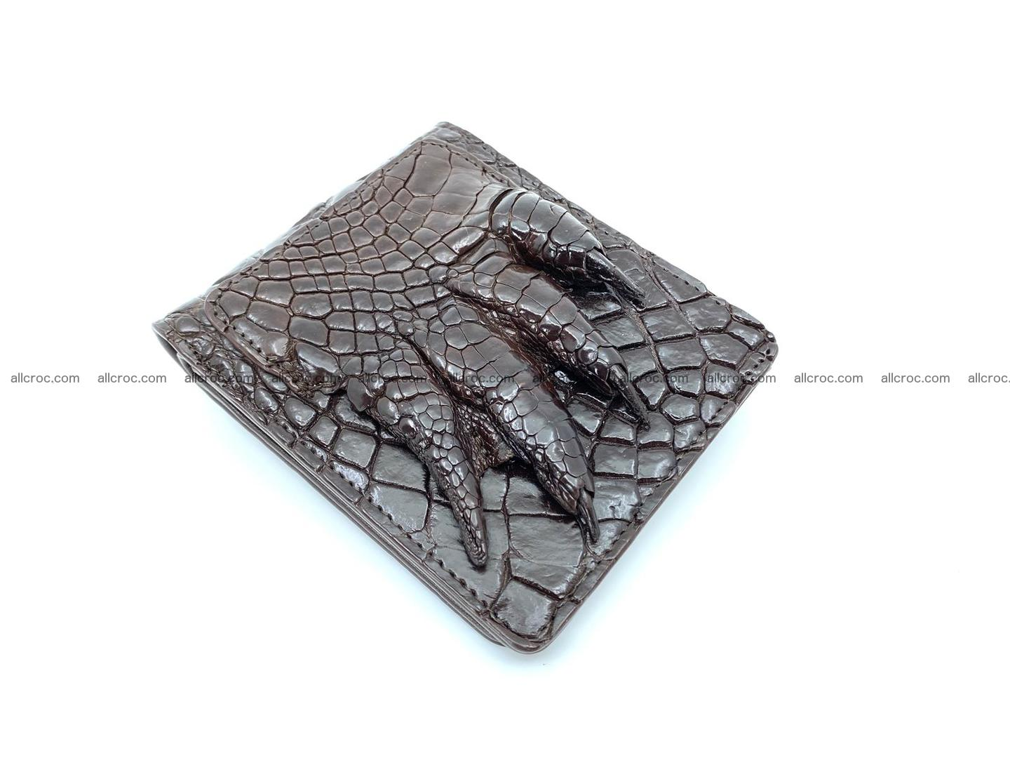 Wallet from Siamese crocodile skin with paw and claws  507 Foto 1