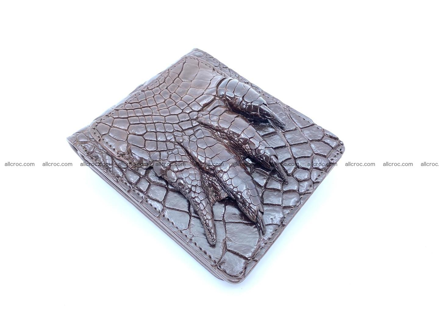 Wallet from Siamese crocodile skin with paw and claws  507 Foto 0