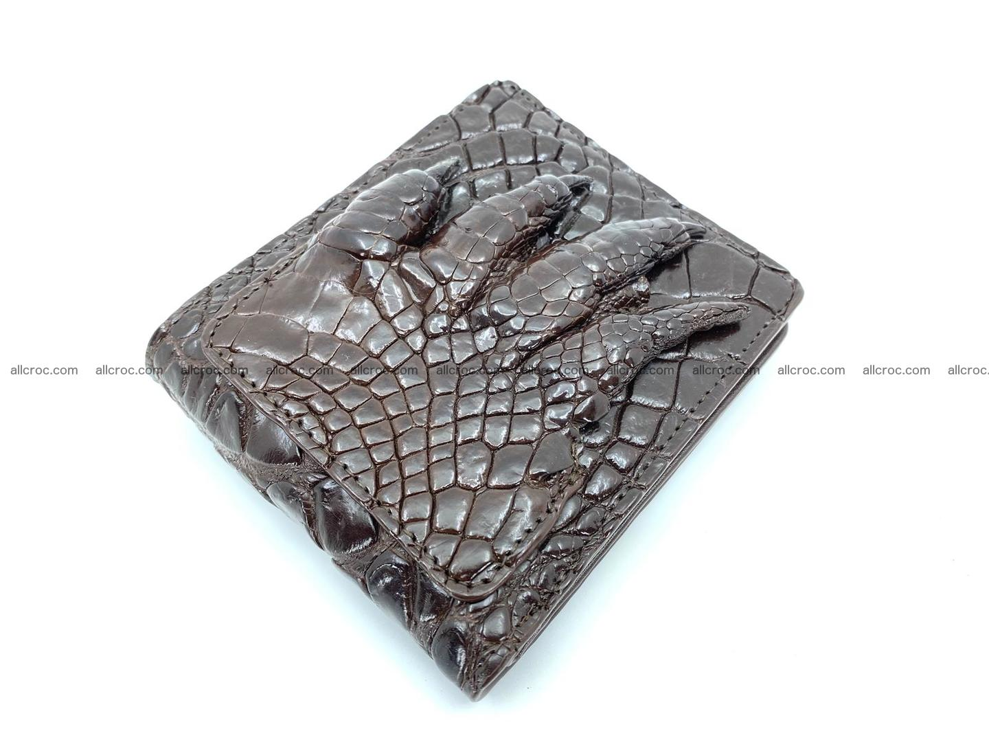 Wallet from Siamese crocodile skin with paw and claws  507 Foto 2