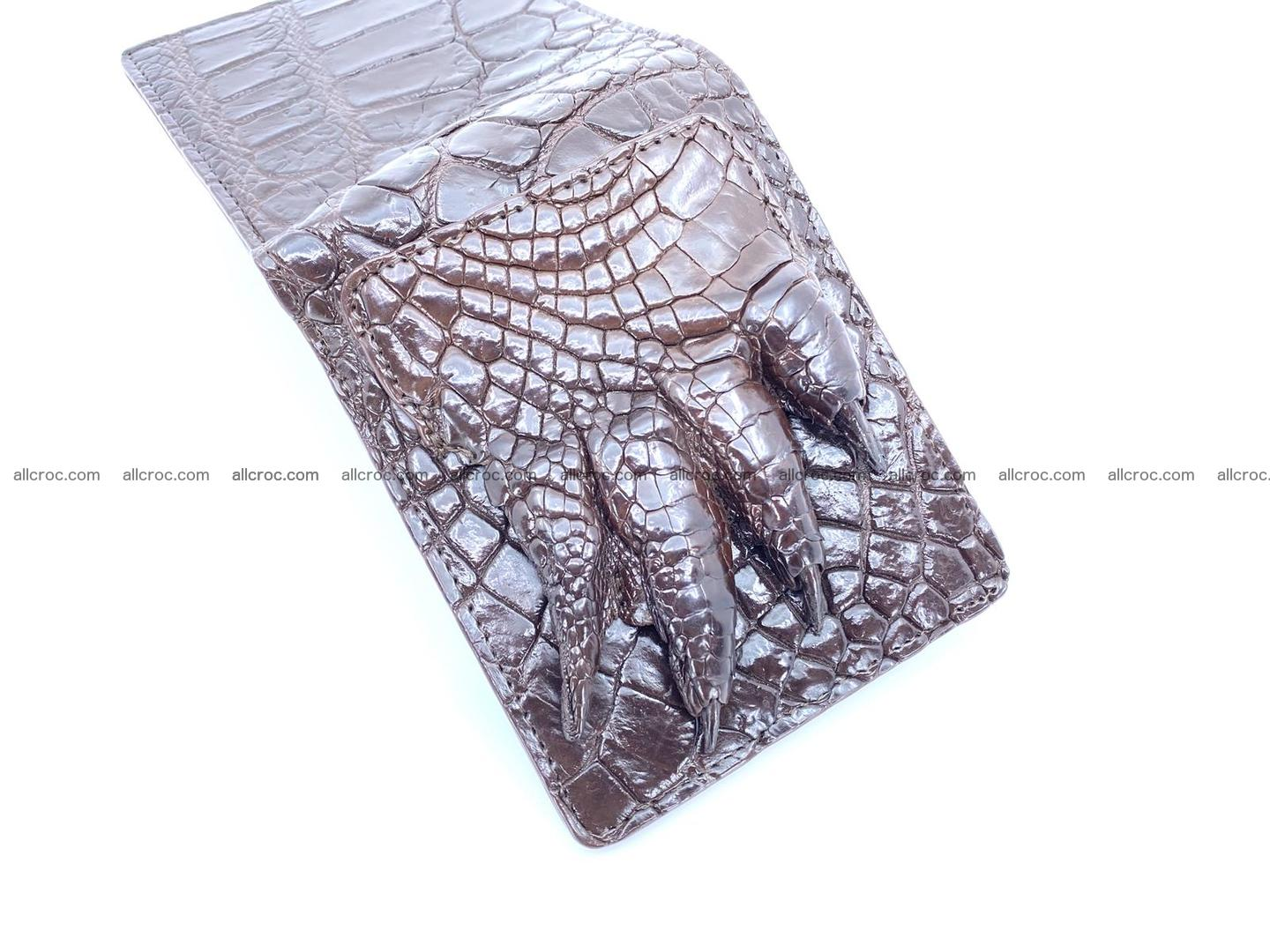 Wallet from Siamese crocodile skin with paw and claws  507 Foto 5