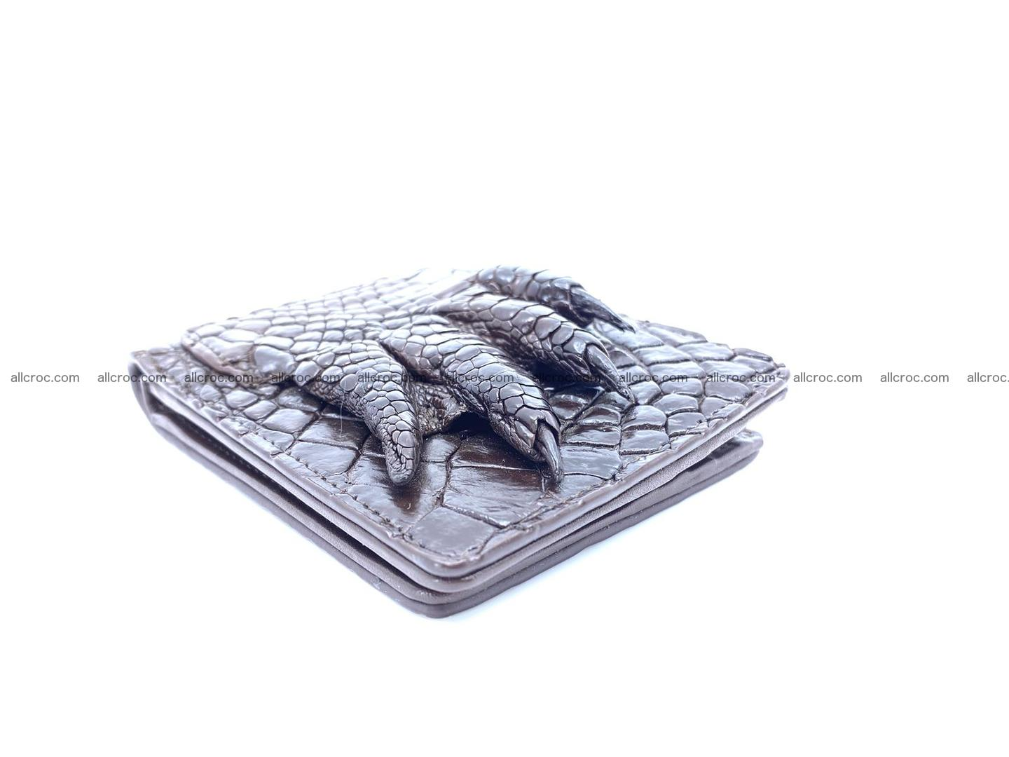 Wallet from Siamese crocodile skin with paw and claws  507 Foto 7