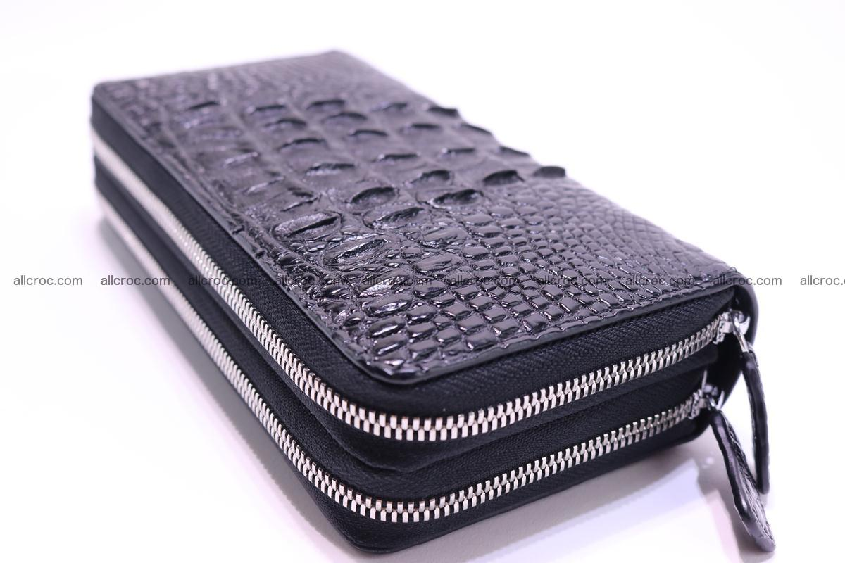 Crocodile wallet with 2zip 300 Foto 4