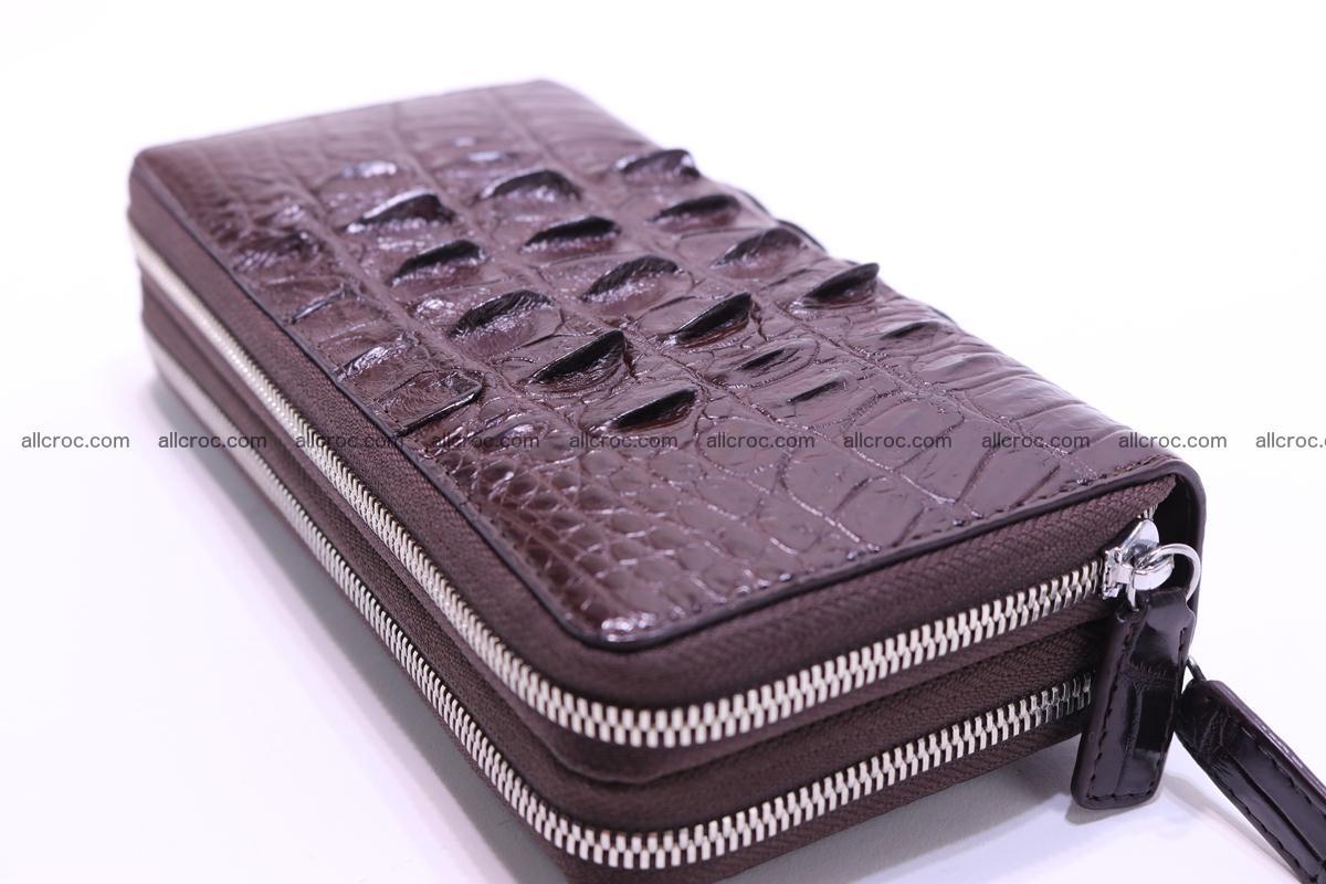 Crocodile wallet with 2zip 302 Foto 4