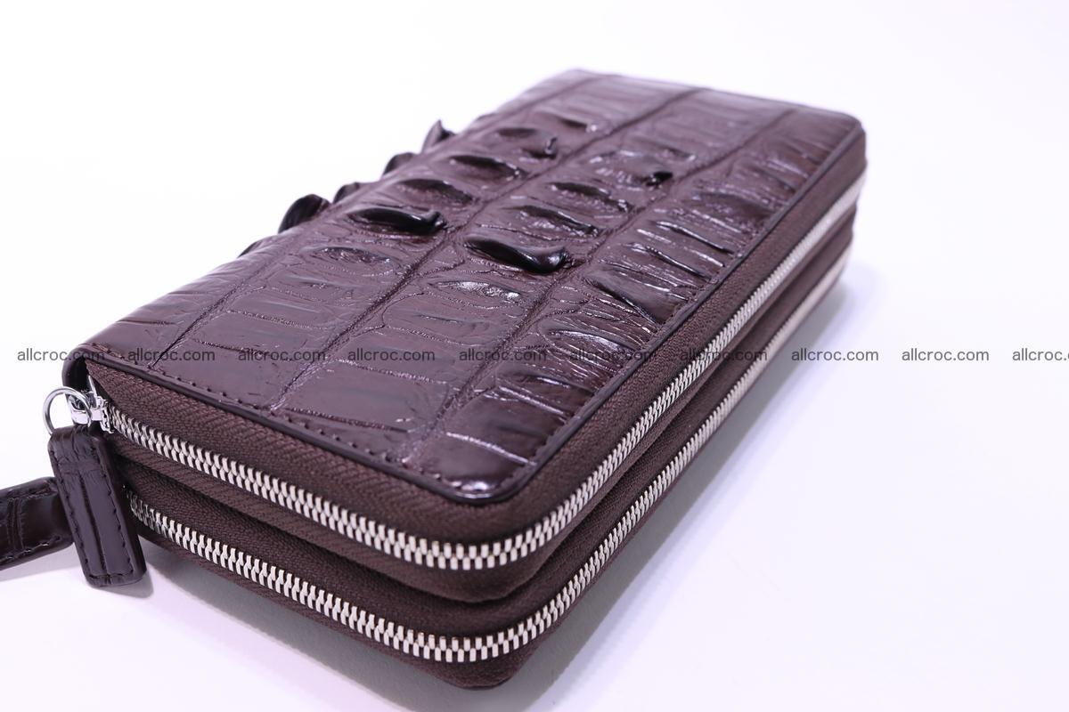 Crocodile wallet with 2zip 302 Foto 6