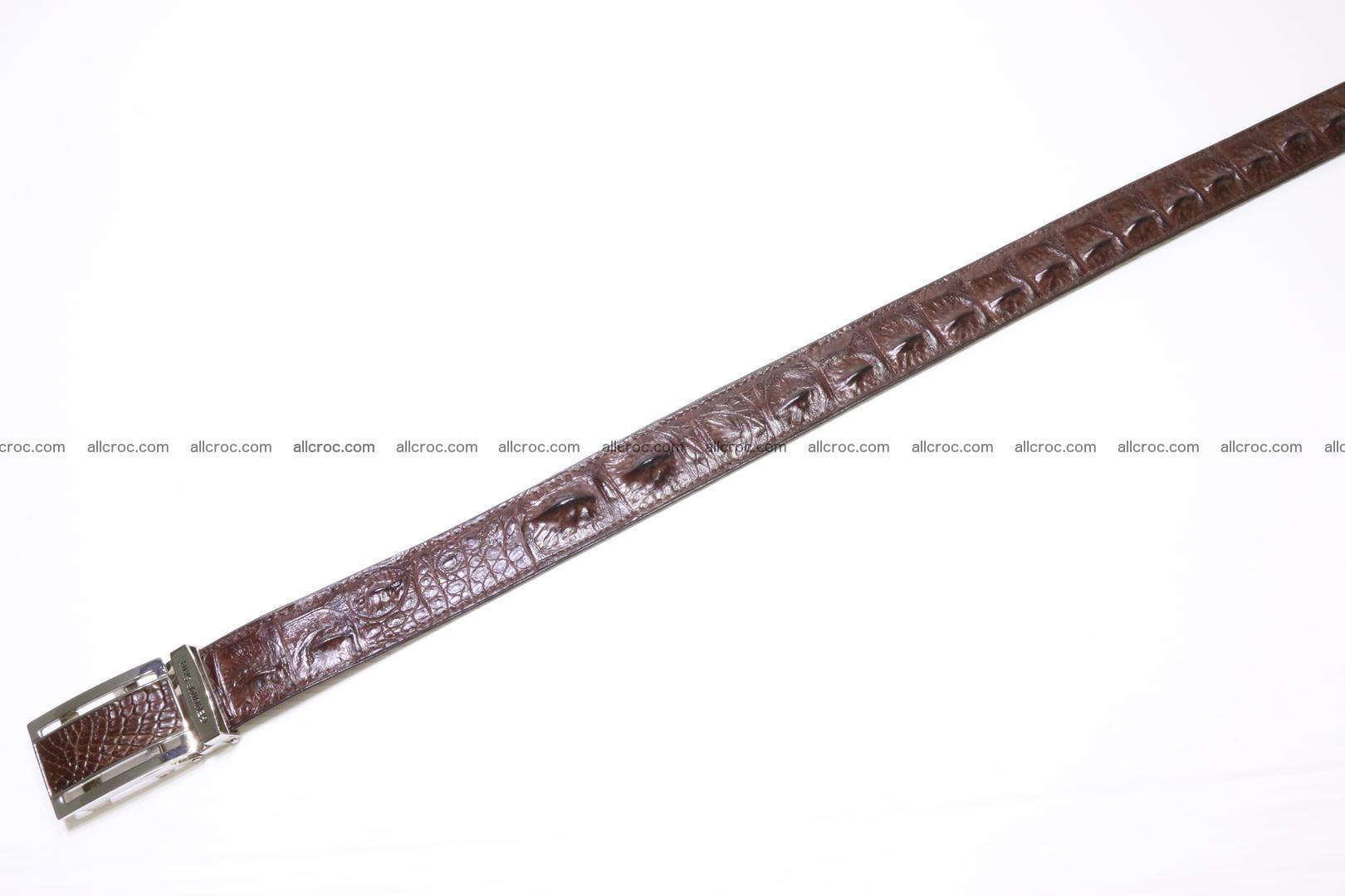 Genuine alligator leather Hornback belt 020 Foto 2