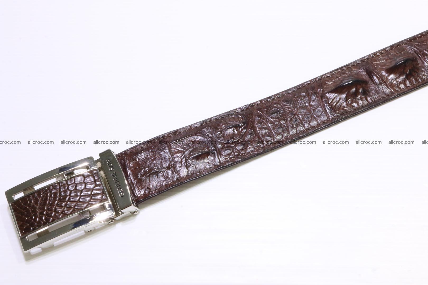 Genuine alligator leather Hornback belt 020 Foto 4