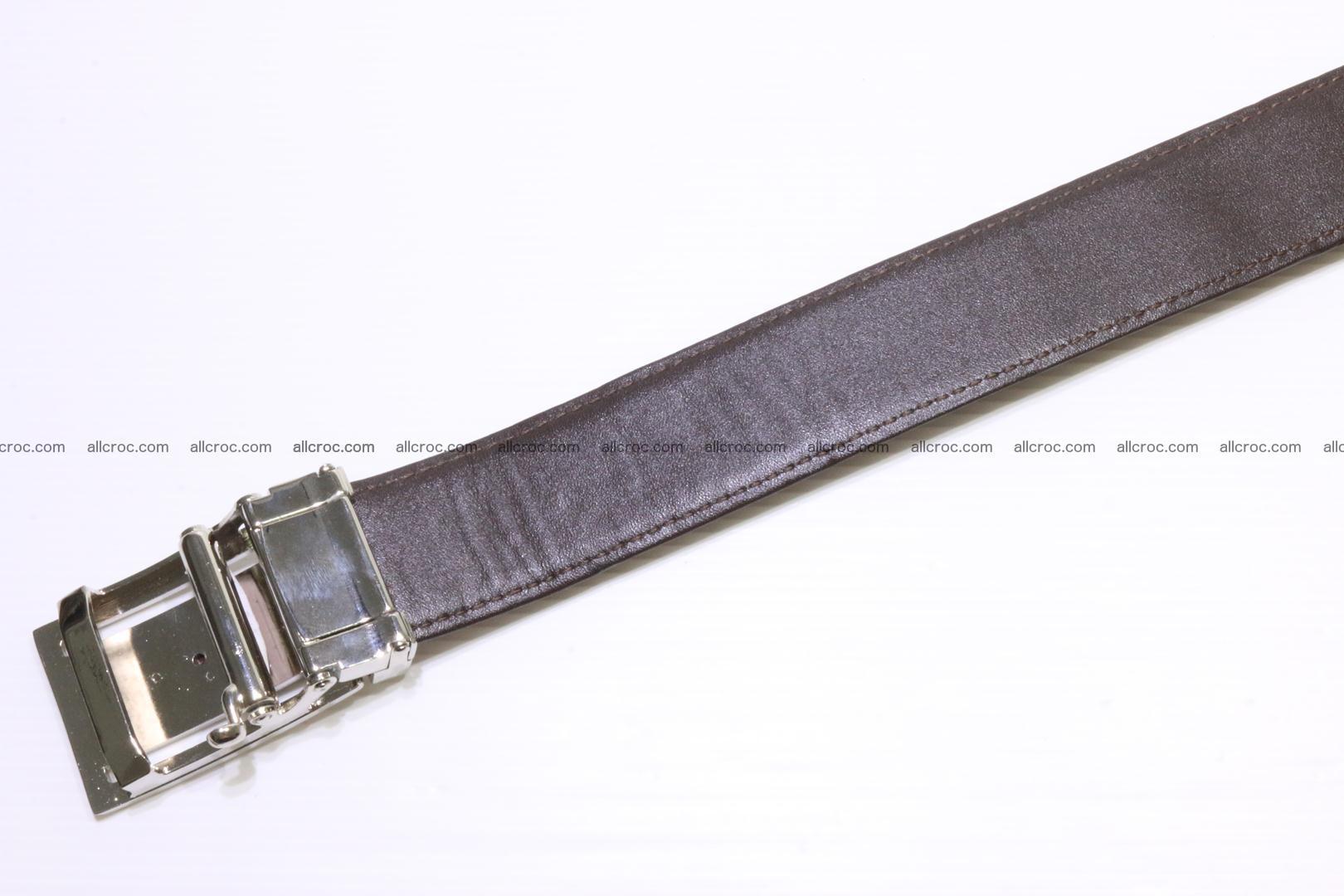 Genuine alligator leather Hornback belt 020 Foto 5