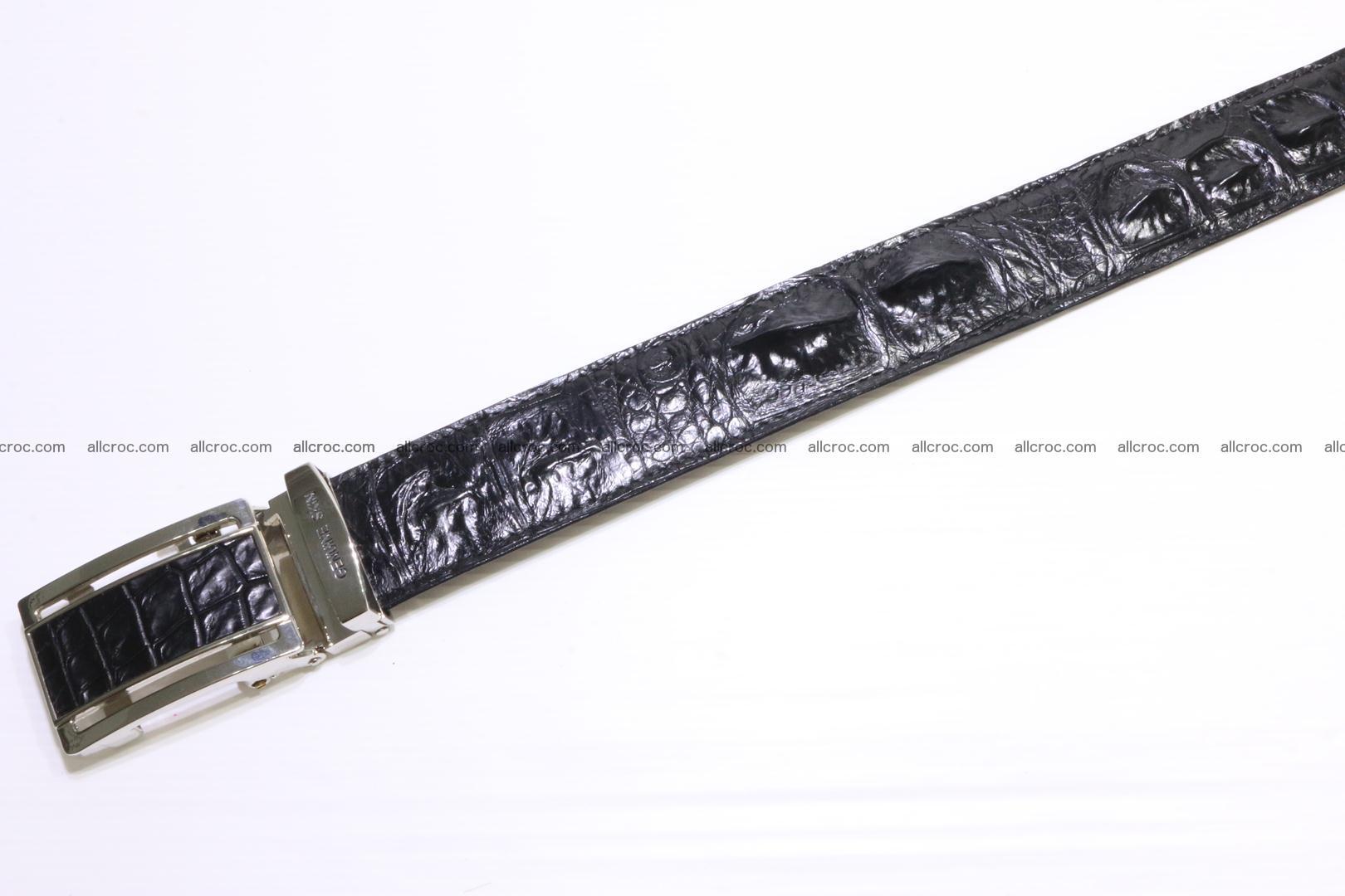 Genuine alligator leather Hornback belt 021 Foto 3