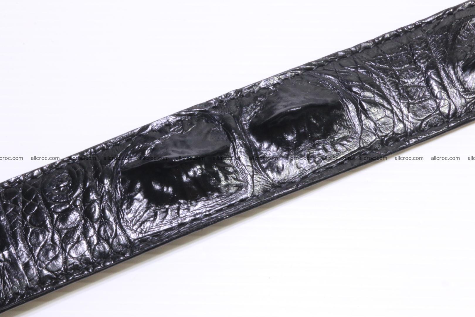 Genuine alligator leather Hornback belt 021 Foto 2