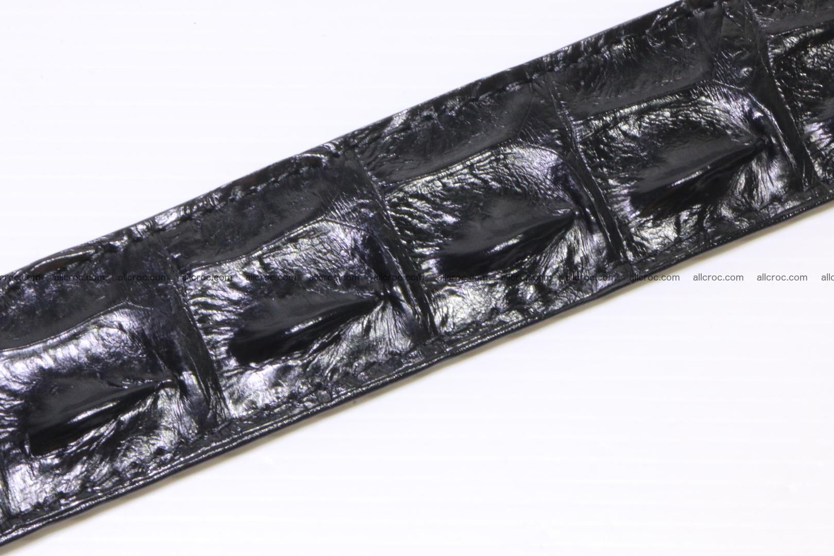 Genuine alligator leather Hornback belt 021 Foto 7