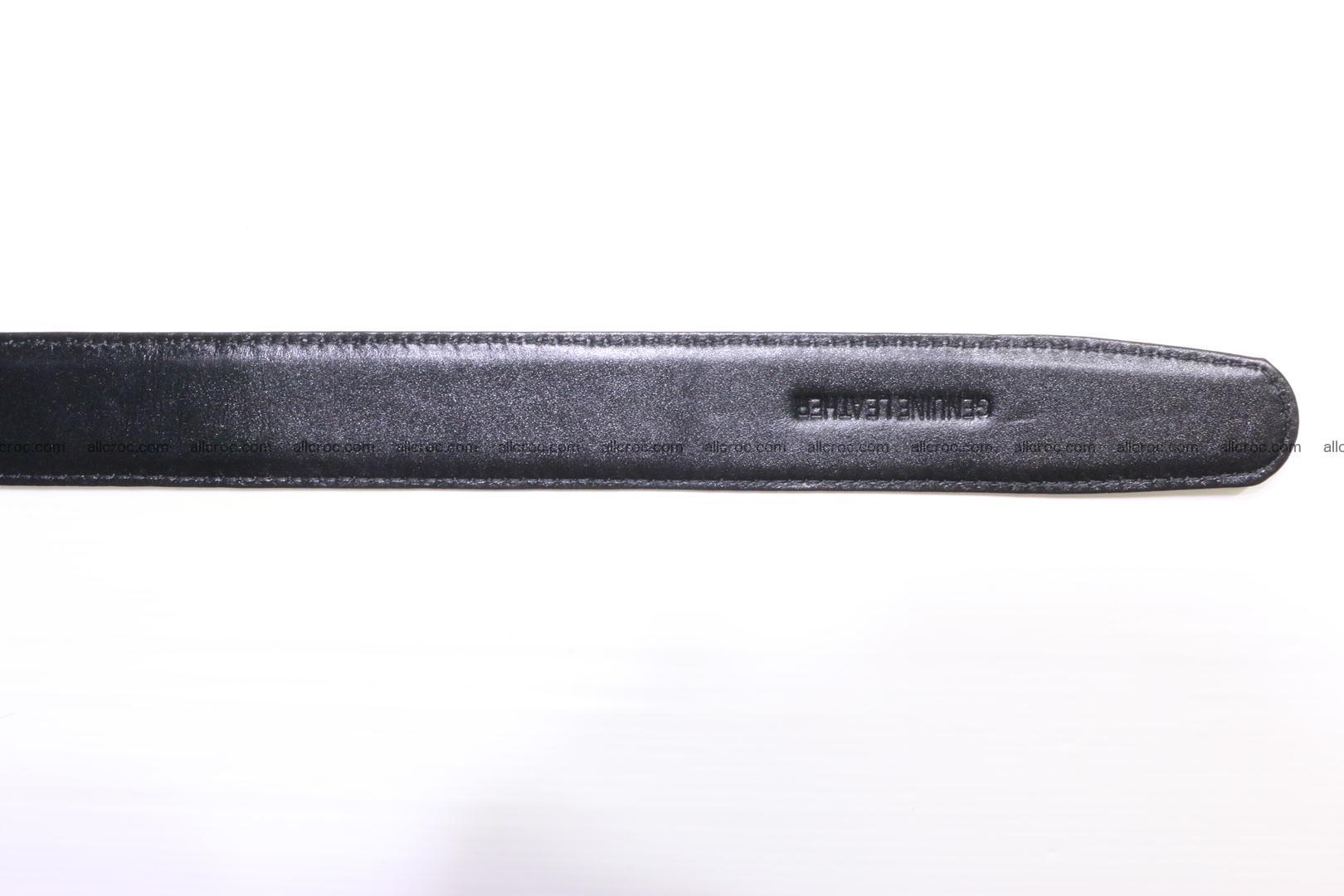 Genuine alligator leather Hornback belt 021 Foto 10