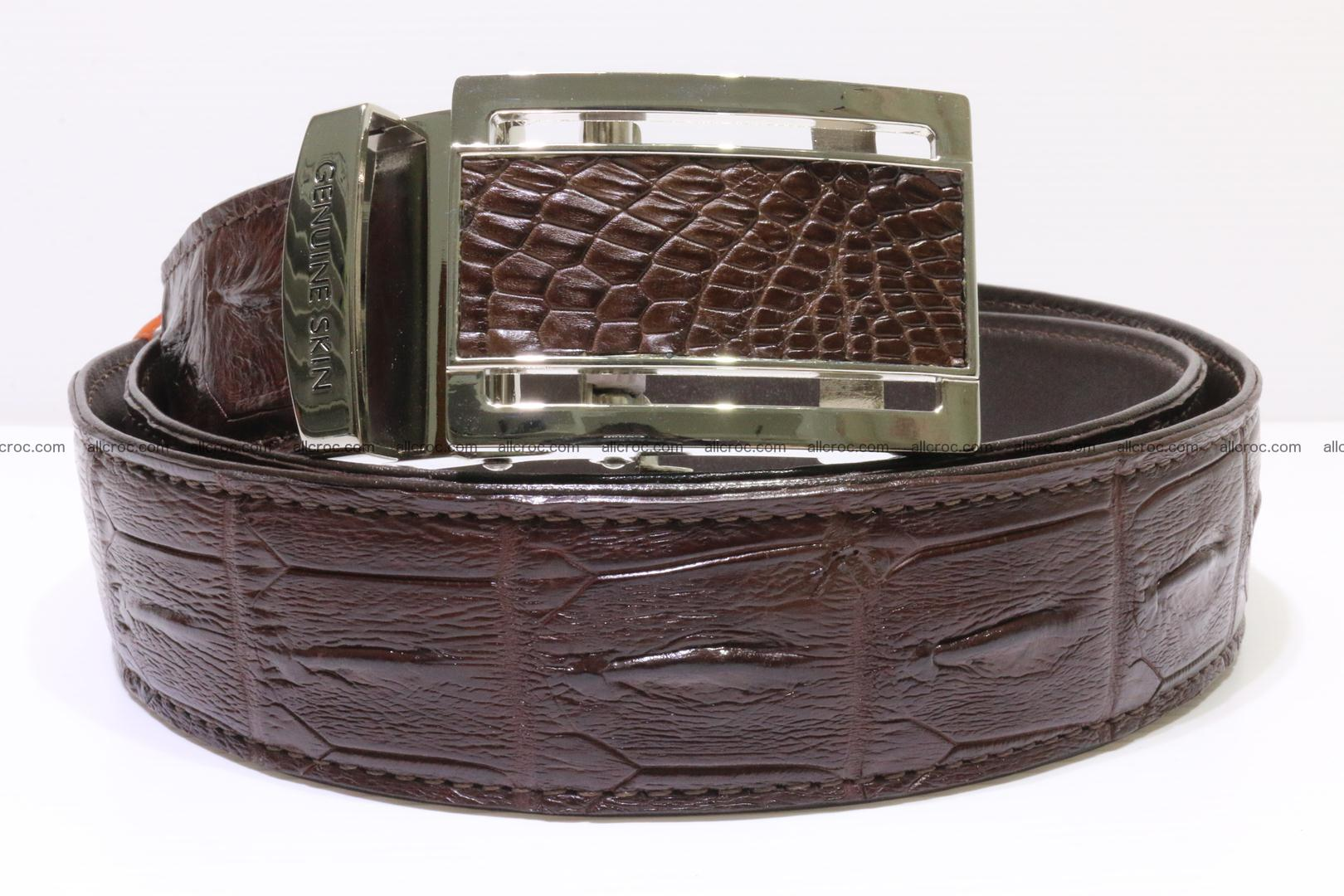 Genuine alligator leather Hornback belt for overweight 023 Foto 0