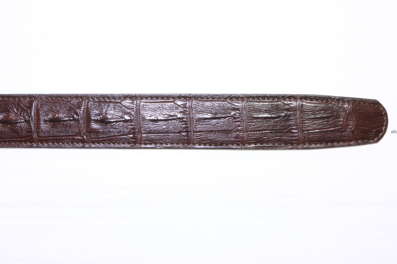 Genuine alligator leather Hornback belt for overweight 023 Foto 5