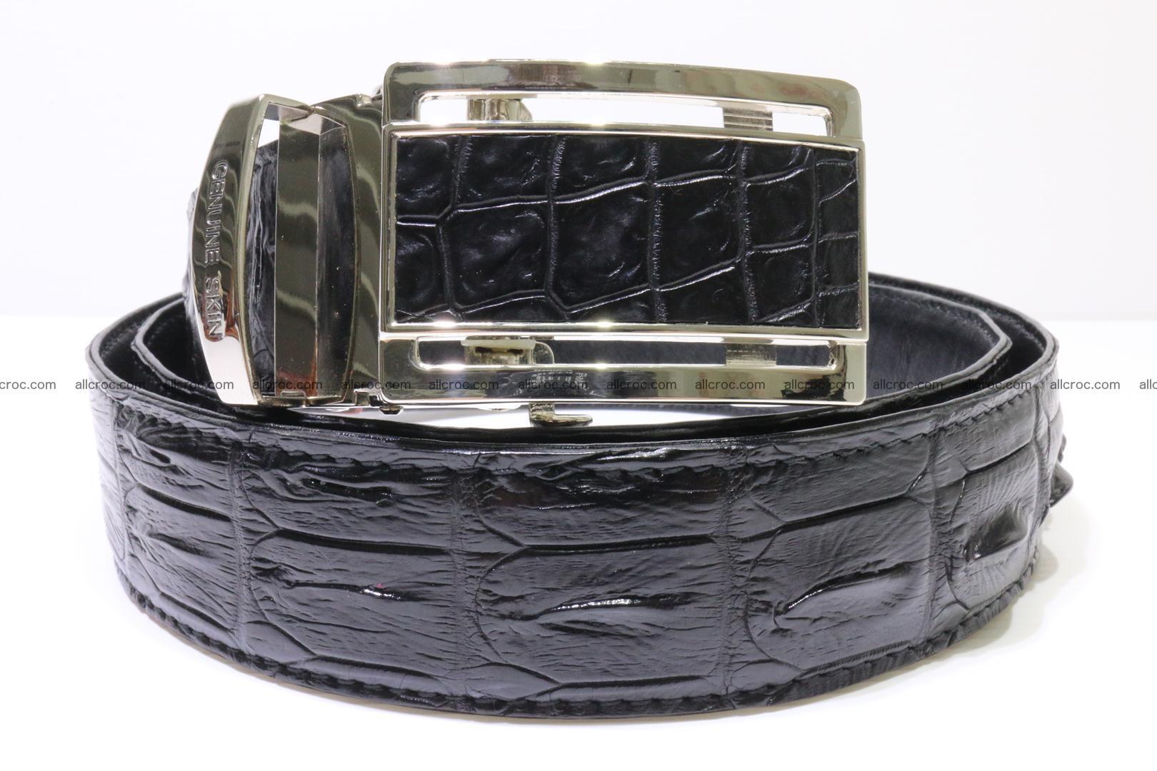 Genuine alligator leather Hornback belt for overweight 024 Foto 0