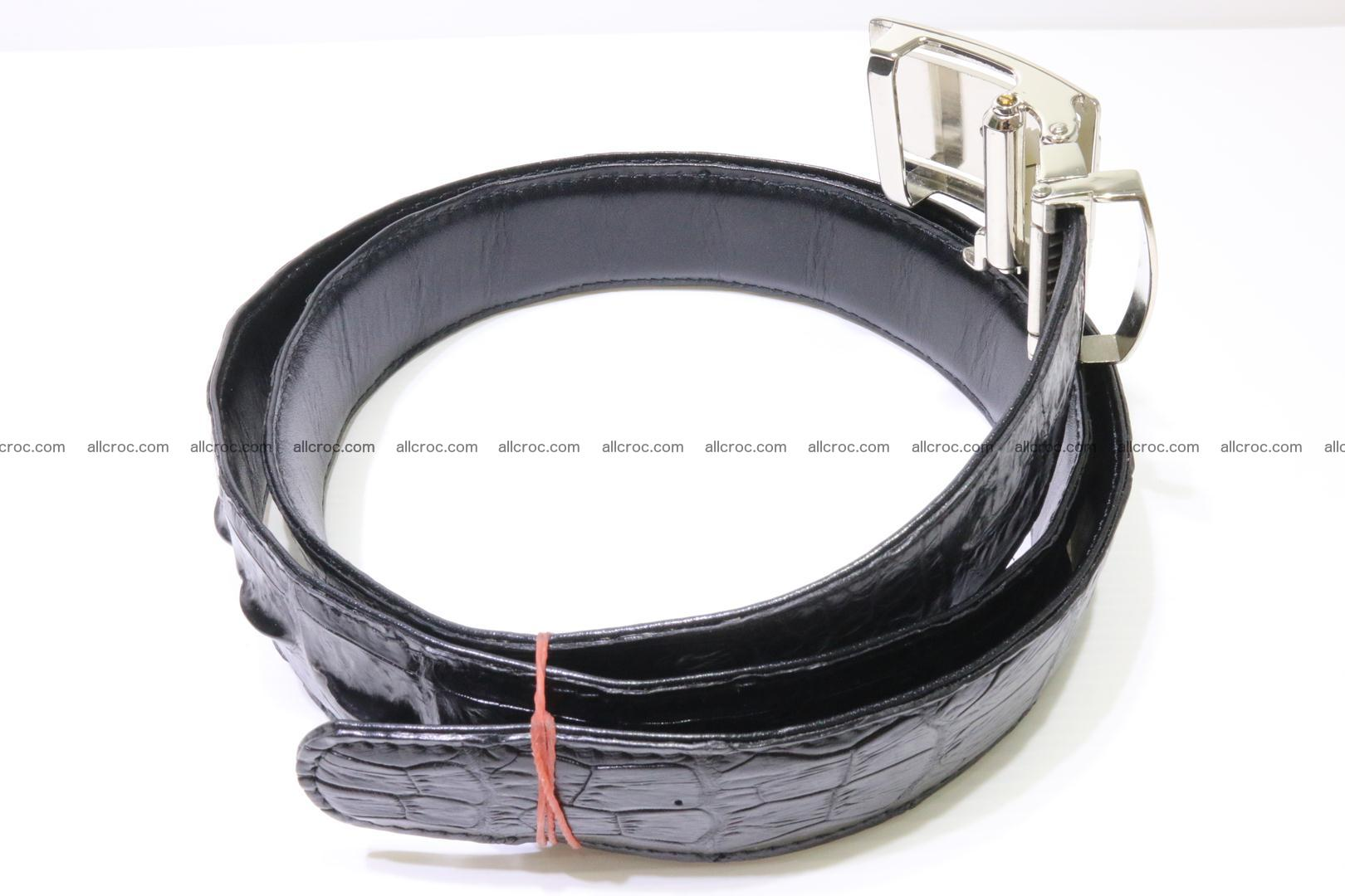 Genuine alligator leather Hornback belt for overweight 024 Foto 1