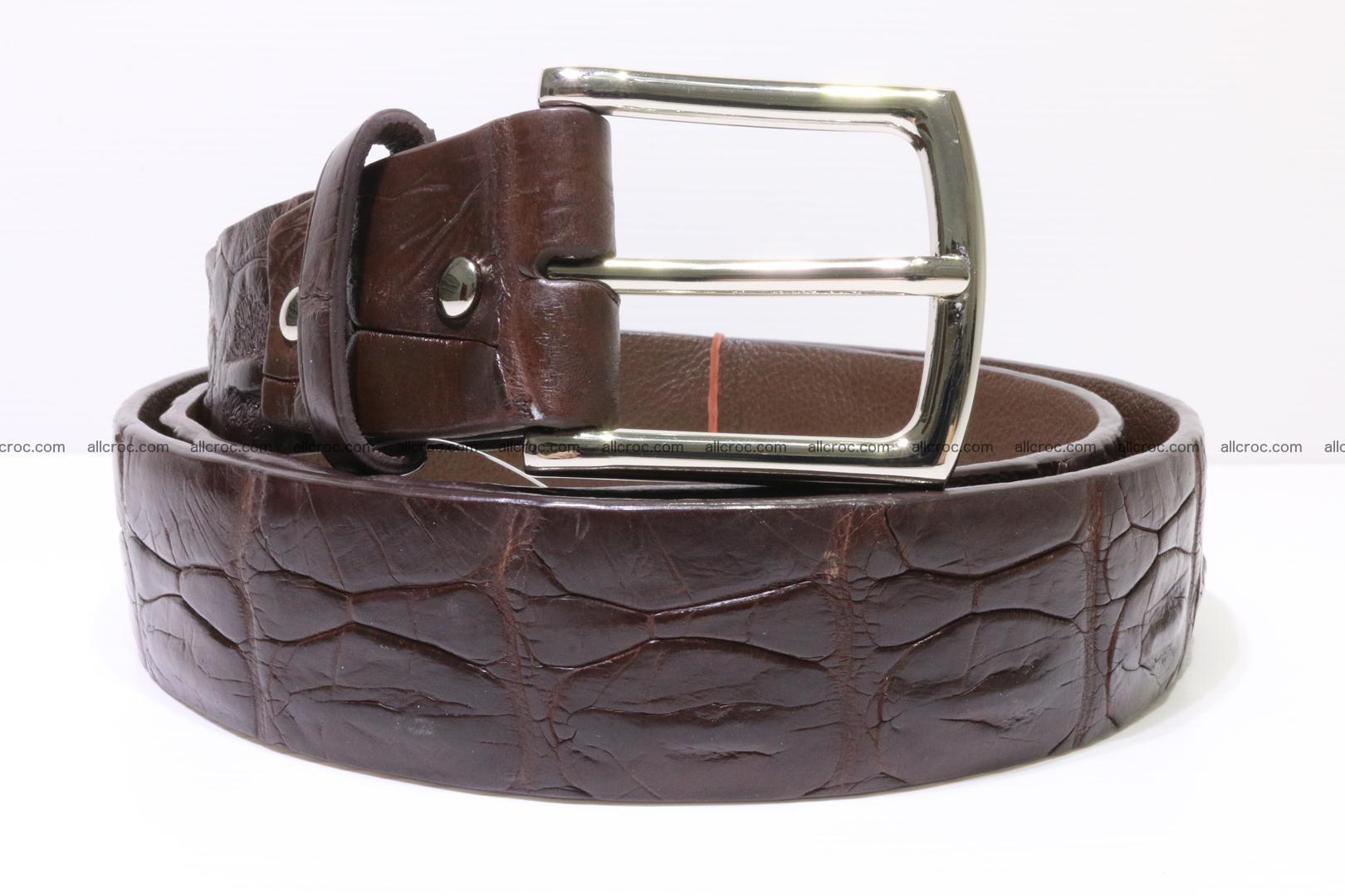 Genuine alligator leather Hornback belt 014 Foto 0