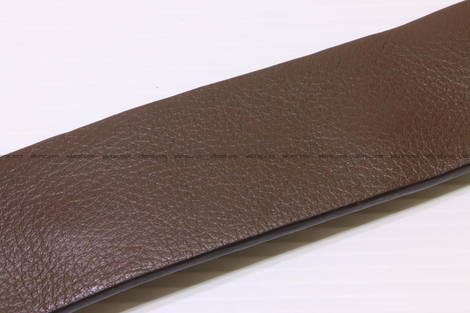 Genuine alligator leather Hornback belt 014 Foto 4