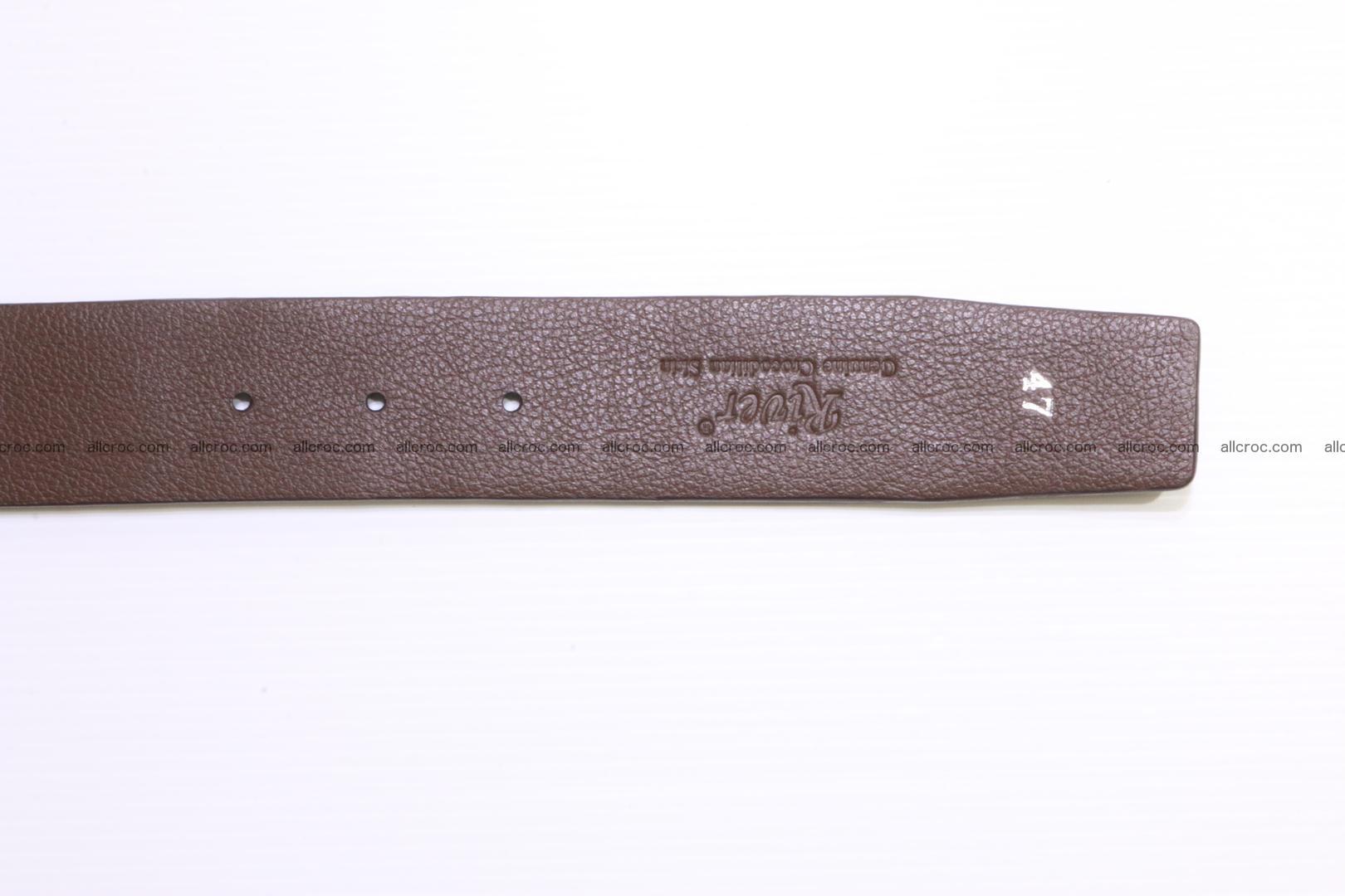Genuine alligator leather Hornback belt 014 Foto 6