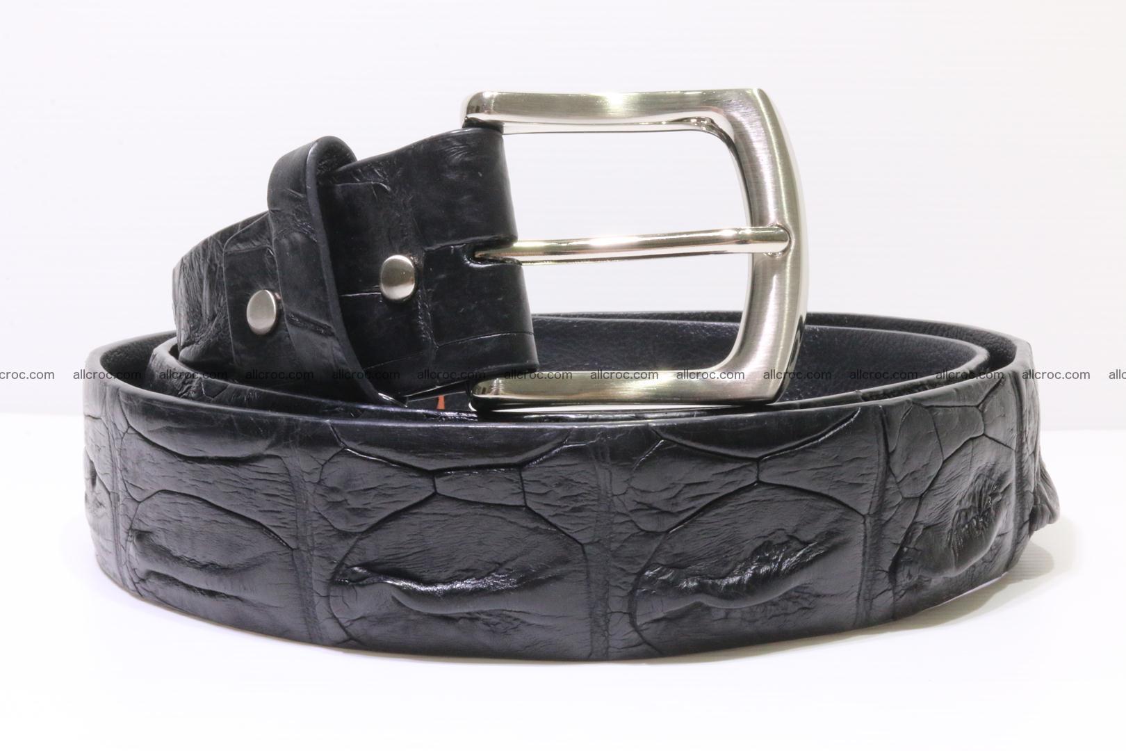 Genuine alligator leather Hornback belt 015 Foto 0