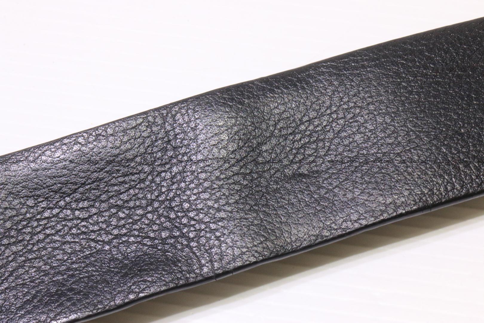 Genuine alligator leather Hornback belt 015 Foto 4