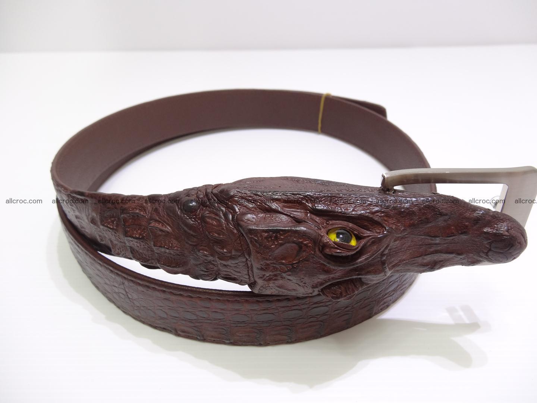 Genuine crocodile belt with real crocodile head 027 Foto 3
