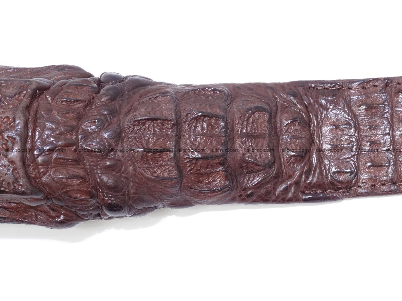 Genuine crocodile belt with real crocodile head 027 Foto 6