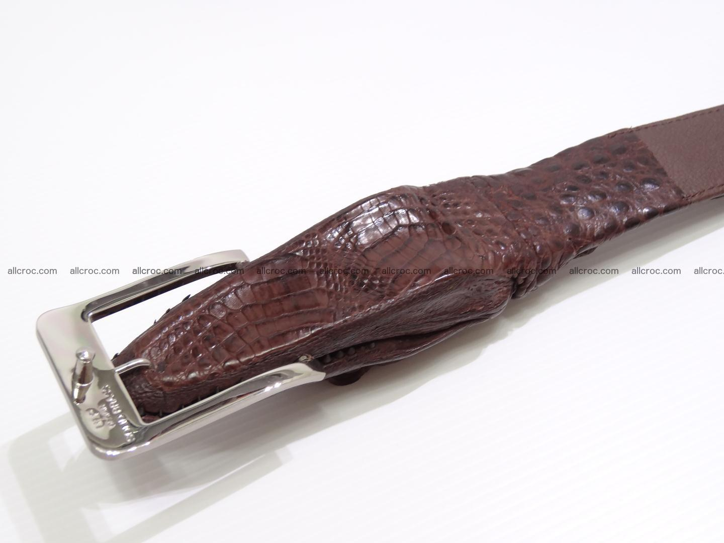Genuine crocodile belt with real crocodile head 027 Foto 4