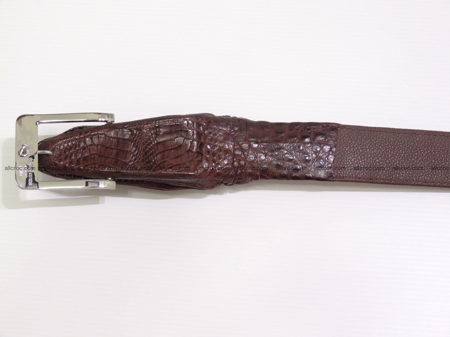 Genuine crocodile belt with real crocodile head 027 Foto 5