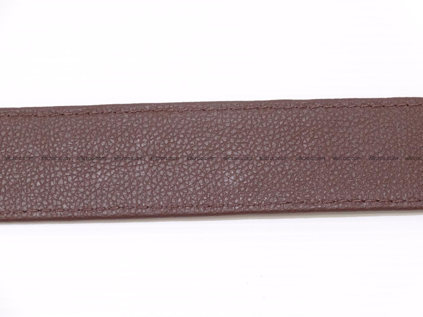 Genuine crocodile belt with real crocodile head 027 Foto 9
