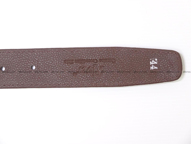 Genuine crocodile belt with real crocodile head 027 Foto 8