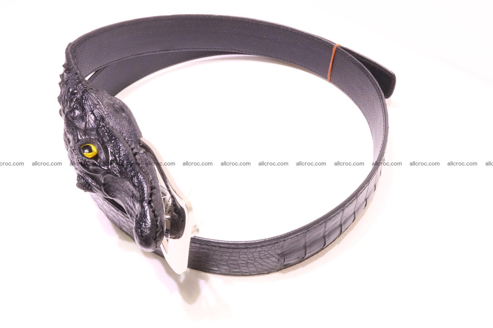 Genuine crocodile belt with real crocodile head 028 Foto 4