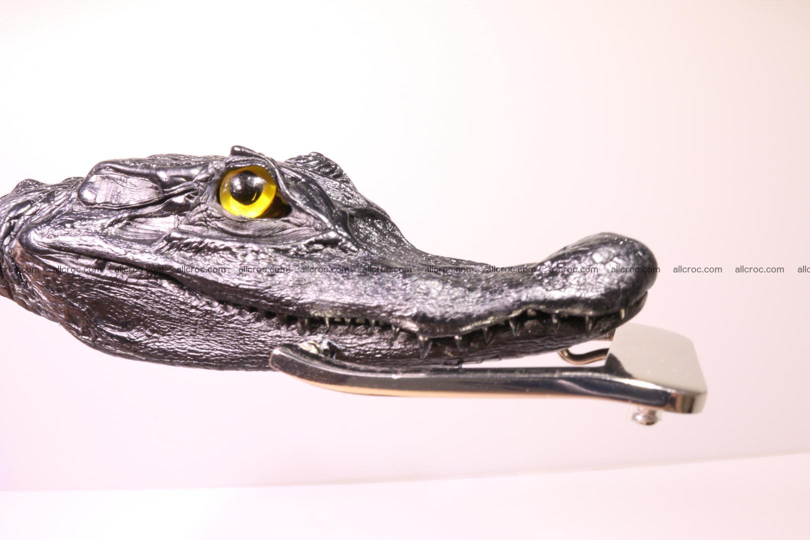 Genuine crocodile belt with real crocodile head 028 Foto 0