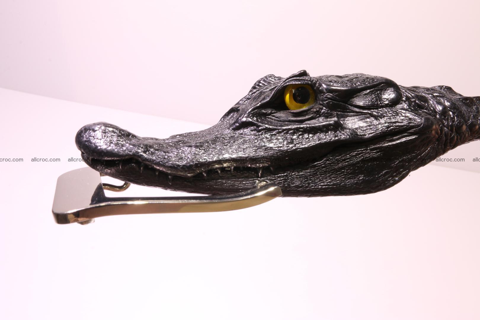 Genuine crocodile belt with real crocodile head 028 Foto 1
