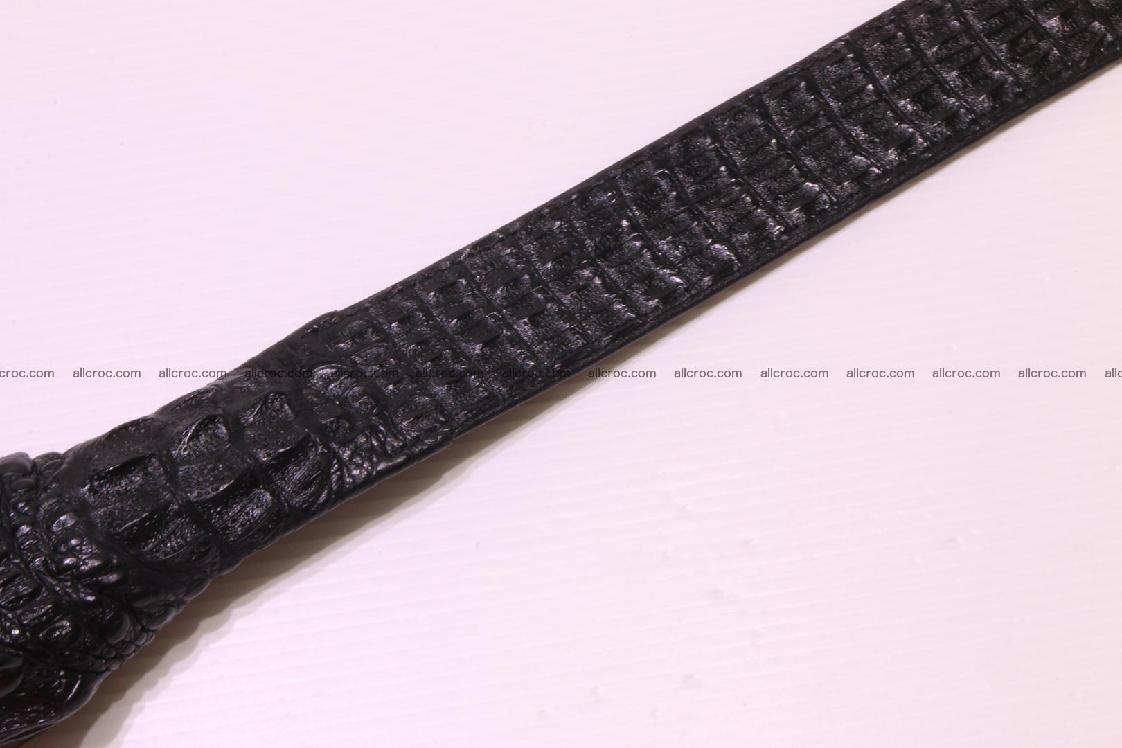 Genuine crocodile belt with real crocodile head 028 Foto 11