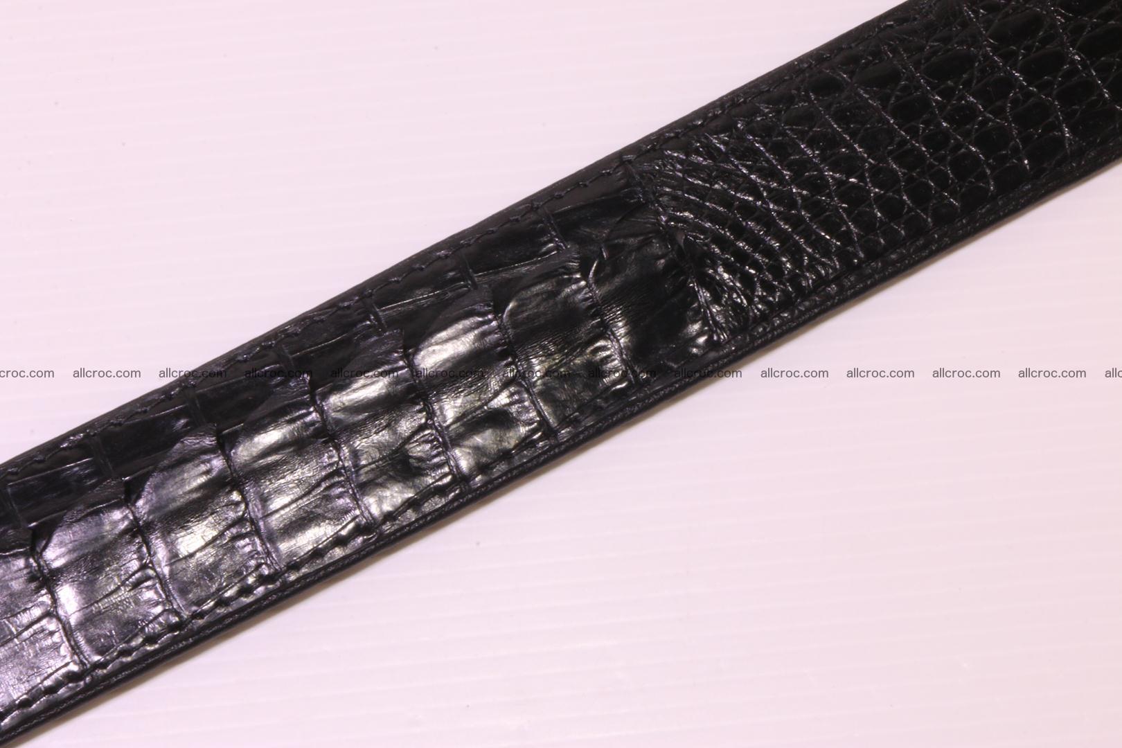 Genuine crocodile belt with real crocodile head 028 Foto 12